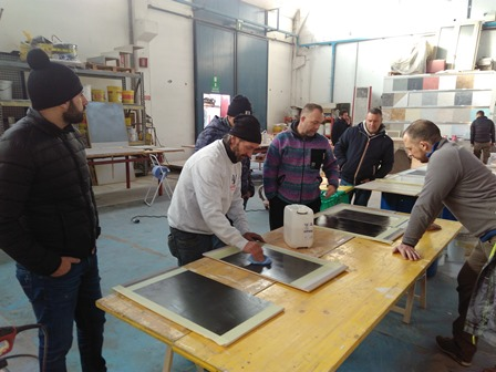 Resin and microcement floor application courses