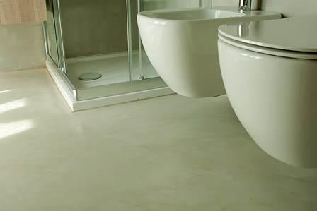 Pavimenti in resina a casa dal produttore qui anche manodopera - Microcemento bagno ...