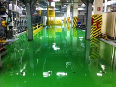 Resin Floor in the Factory