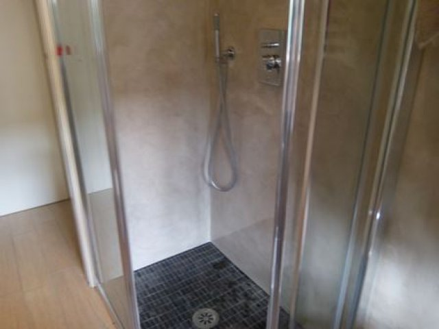 Microcement shower stall