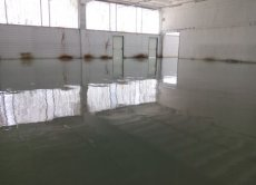 Self levelling resin floors